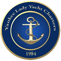 Blue and gold crest for Yankee Lady Cruises in Toronto.