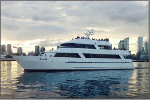 The Toronto cruise boat Yankee Lady III cruise the Toronto Harbour.