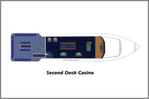 Second Deck Casino floor plan on our two cruise boats.