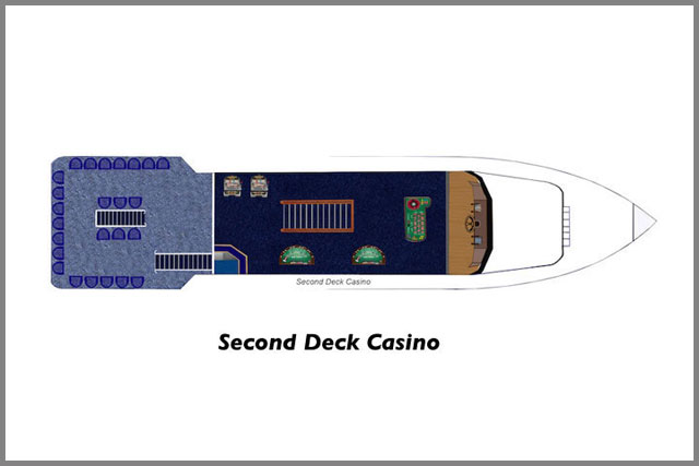 Second Deck Casino floor plans on our two cruise boats.