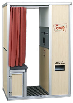 Portable photobooth that can be used on a cruise boat or any remote location.
