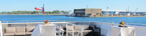 View of the Toronto Island airport from the aft deck.