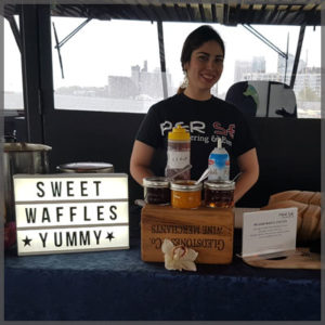 Wait staff waiting to assist you with at our waffle station.