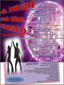 Flyer for our Disco theme cruise.