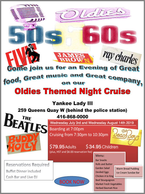 Flyer for our Oldies theme cruise.