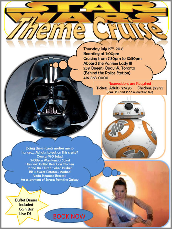 Flyer for our Star Wars theme cruise.